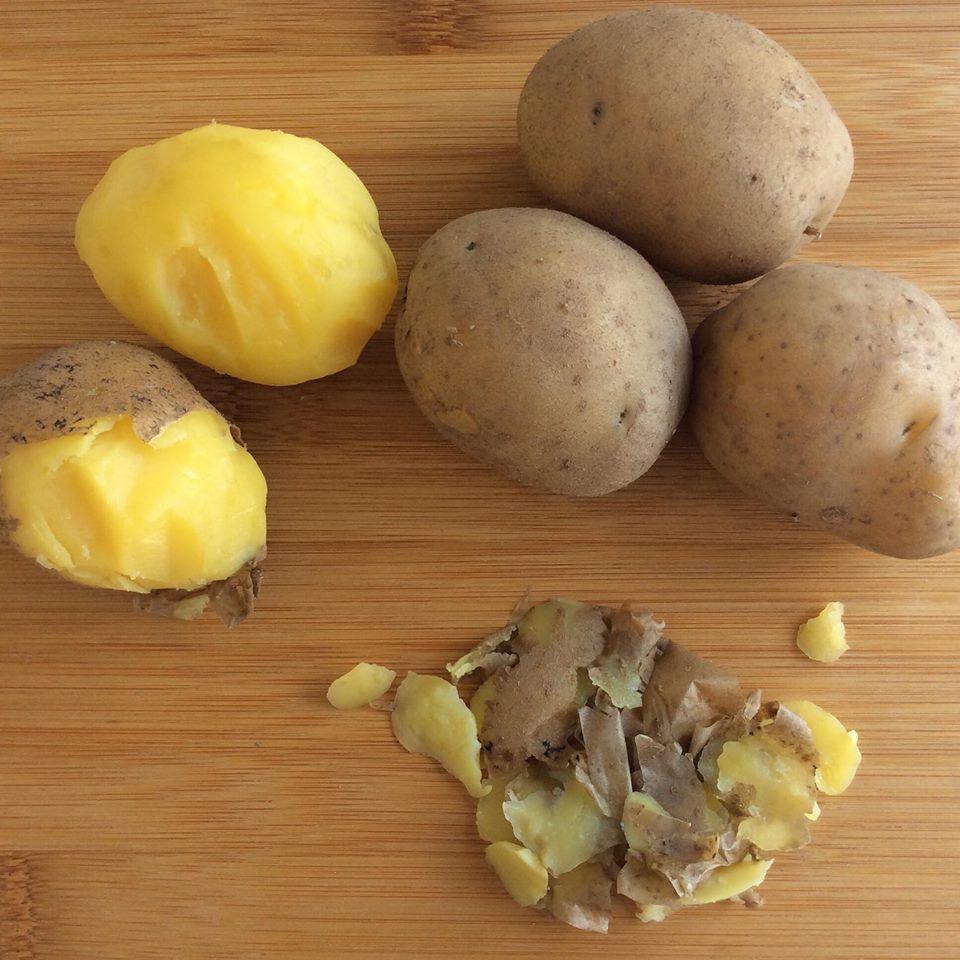 patate lesse sbucciate